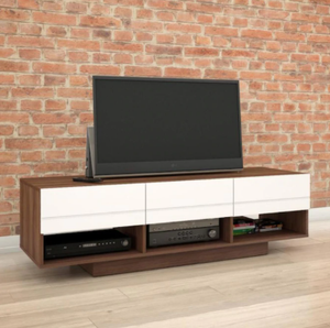 "Sequence 60"" TV Stand, Walnut/White (#K2258)"