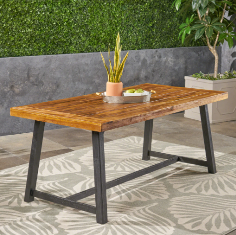 Toby Outdoor Acacia Wood Dining Table (#K2285)