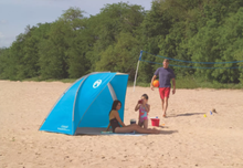 Load image into Gallery viewer, Coleman Beach Shade with 50+ SPF Sun Protection Tent, Blue (#K2310)
