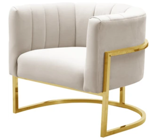 Magnolia Accent Chair, Cream/Gold (#K2530)