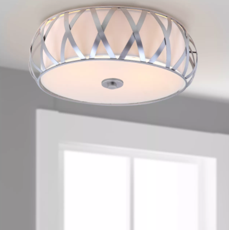 Charing 2-Light Cross Flush Mount, Light Silver (#K2567)