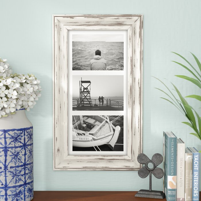 Set of 2 - Souhail Rustic Wash Picture Frames, White (#662)