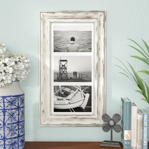 White Souhail Rustic Wash Picture Frame 2389