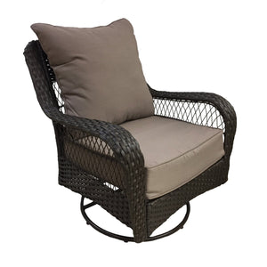 Set of 2 - Indoor/Outdoor Deep Seat and Back Cushions, Taupe (#633)