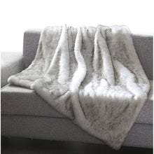 Load image into Gallery viewer, Thiele Luxury Tip Dye Throw, Gray Mink (#220)