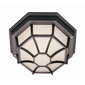 "4"" H x 9"" W Tucker Outdoor Flush Mount in Black 2354"