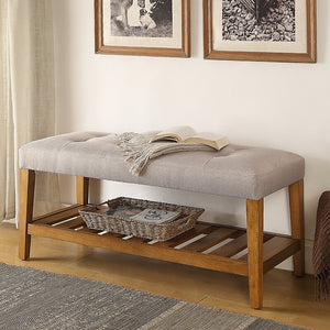 Warwickshire Wood Storage Bench 7311