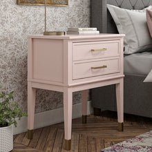 Load image into Gallery viewer, Pink Westerleigh 1 Drawer Nightstand (#HA551)