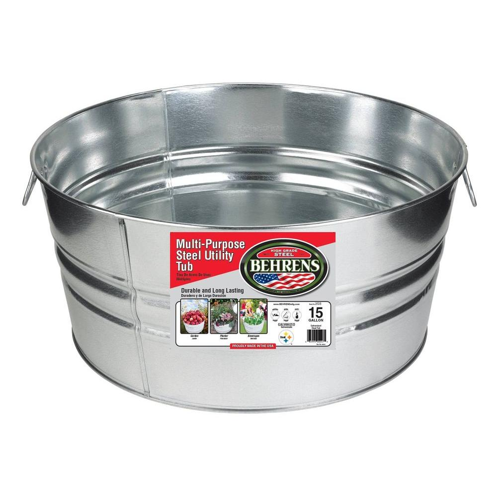 Galvanized Steel Round Tub (#290)