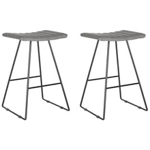 "Load image into Gallery viewer, Set of 2 - Gomera 26"" Counter Stools, Gray (#K2564)"