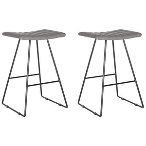"Set of 2 - Gomera 26"" Counter Stools, Gray (#K2564)"