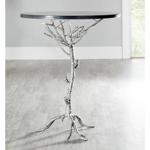 Carolyn End Table, Black and Silver (#K2505)