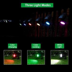 Set of 2 - Solar LED Spotlight with Color Changing Light (#686)