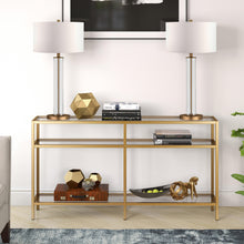 Load image into Gallery viewer, Vega brass console table Dr163