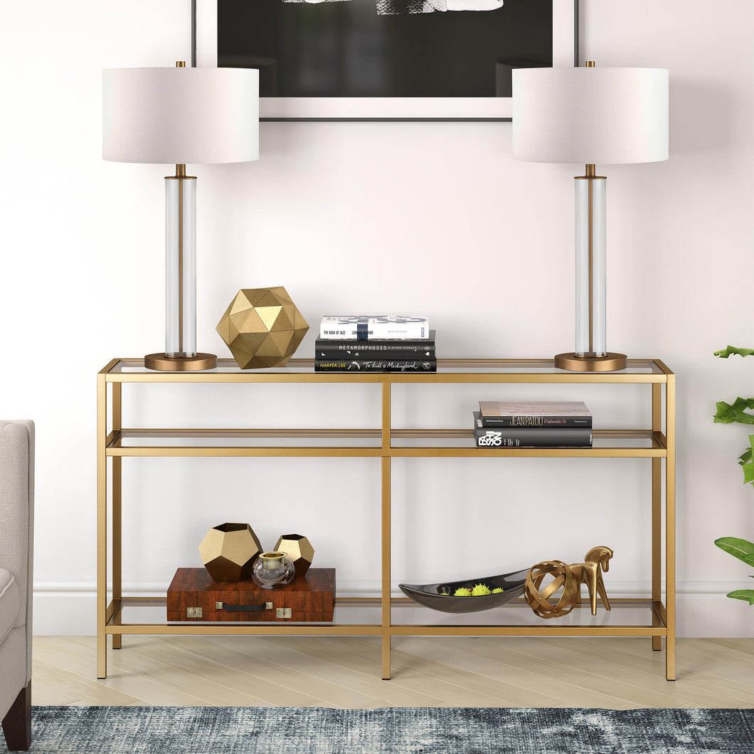 Vega brass console table Dr163