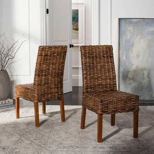 Sanibel Brown Mango Wood Side Chair (Set of 2) #HA701
