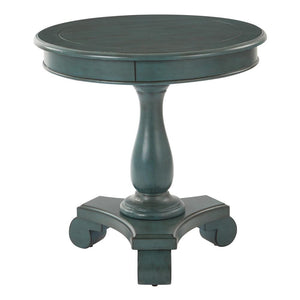 Avalon Round Accent Table, Caribbean Blue (#K2506)