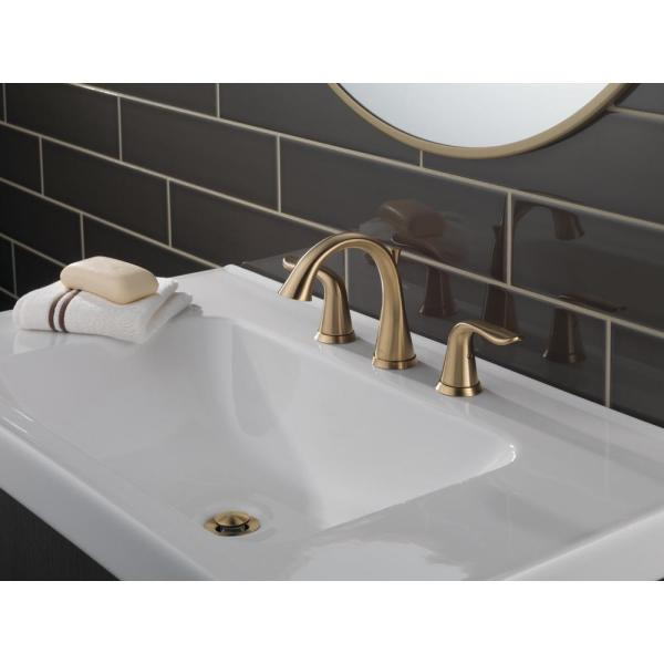 Lahara Widespread bathroom faucet with drain assembly. #9003