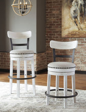 Load image into Gallery viewer, Linen Tall Upholstered Swivel Barstool Dr262