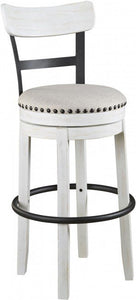 Linen Tall Upholstered Swivel Barstool Dr262