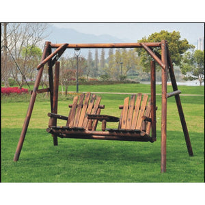 Lepley Outdoor Adirondack Freestanding Porch Swing - 8467T