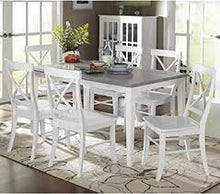 Load image into Gallery viewer, Helena Dining Table ONLY Gray/White (#HA543)