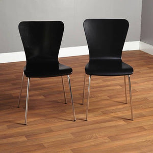 Set of 2 - Pisa Bentwood Dining Chairs, Black (#K2131)