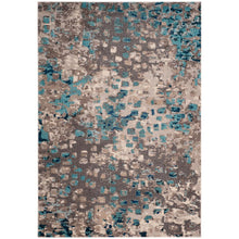 Load image into Gallery viewer, Monaco Gray/Light Blue 7 ft. x 9 ft. Area Rug  TR62