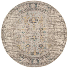 "Load image into Gallery viewer, Monaco Gray/Multi 6'7"" Round Area Rug #159R"