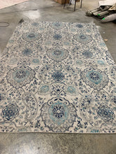 Load image into Gallery viewer, White and Marine Blue Area Rug, 9'x12' (#19R)