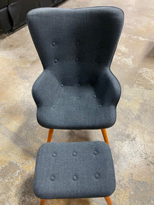 "Dark Gray Canyon Vista 15.75"" Lounge Chair and Ottoman"