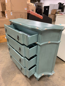 Blue Milner 4 Drawer Accent Chest
