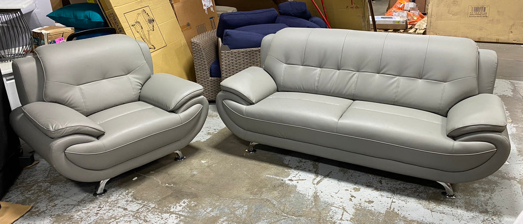 Hillsdale Modern Gray Sofa and Armchair Set