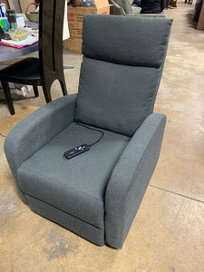 Manual Reclining Massage Chair, Gray