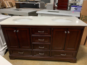 "Diodorus 60"" Double Bathroom Vanity"