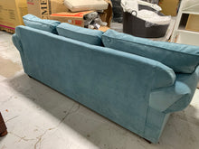 "Load image into Gallery viewer, Klaussner 86"" Sleeper Sofa, Heavenly Sapphire Blue"