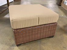 Load image into Gallery viewer, Caramel Waterbury Outdoor Ottoman with Beige Cushion