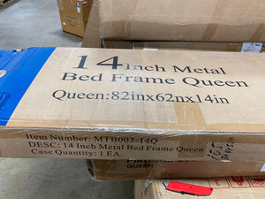 "14"" Metal Bed Frame - Queen  #SA650"