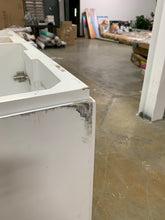 "Load image into Gallery viewer, 60"" White/Marble Double Bathroom Vanity"