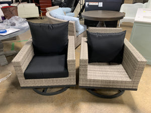 Milo™ Gray Motion Club Chairs - Charcoal Gray