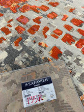 Load image into Gallery viewer, Monaco Gray/Orange 8' x 10' Area Rug #135R