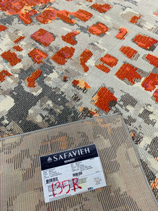 Monaco Gray/Orange 8' x 10' Area Rug #135R