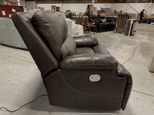 Alvey Wide Seat Leather Power Recliner
