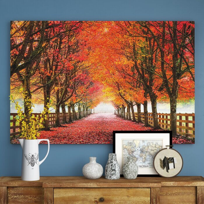 """North Bend Trees"" - Wrapped Canvas - #8535T"