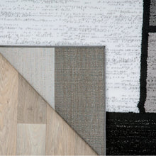 Load image into Gallery viewer, Lorenzo Geometric Gray/Black/White Area Rug, 10'x14' (#32R)