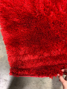 Amore Shag Rug, Red, 5'x7' (#33R)
