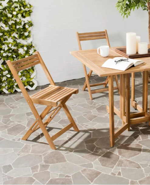 SET OF 4 Safavieh Outdoor Living Blison Folding Chairs K7550