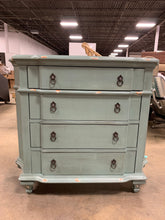 Load image into Gallery viewer, Blue Milner 4 Drawer Accent Chest