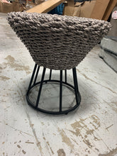 Load image into Gallery viewer, Grey Wicker Side Table