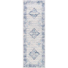 "Load image into Gallery viewer, Pauley Vintage Light Blue 2'8"" x 8' Runner Rug LX5714"